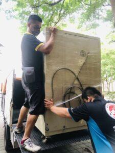 單件大型機器設備搬運,搬至台北國立台灣大學